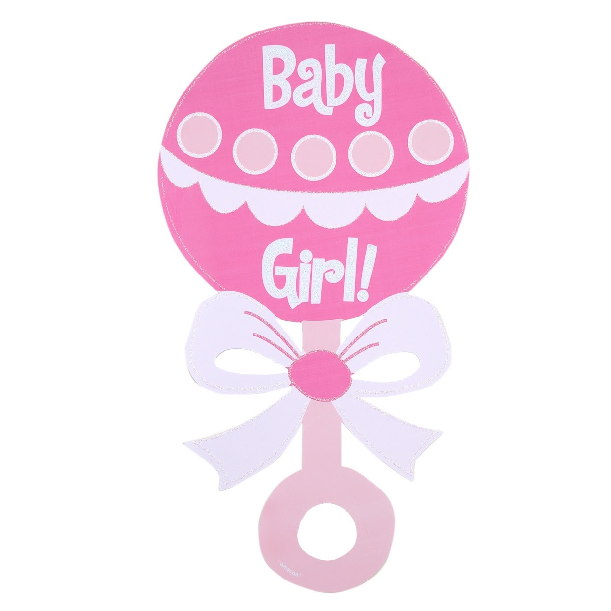 Baby girl pink clipart. Bottle kid rattle clip