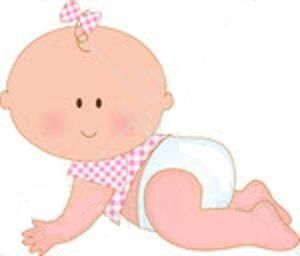 Baby girl pink clipart. Clip art free clipartcow