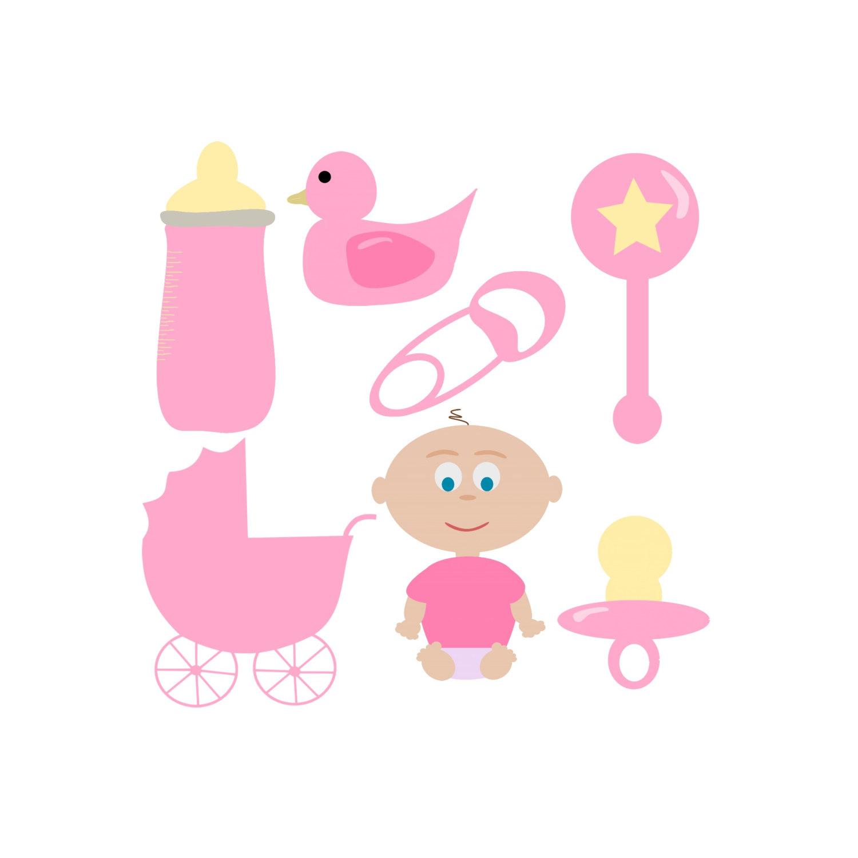 Black kid digital clip. Baby girl pink clipart