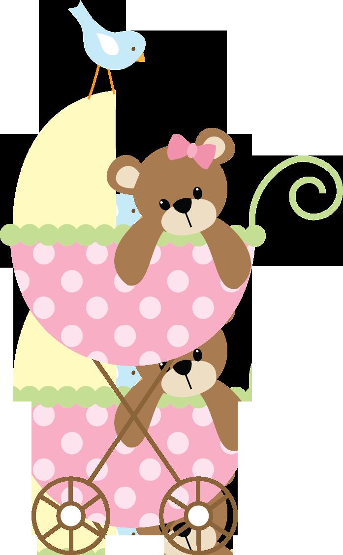 Baby girl pink clipart black and white Bebê (Menino e Menina) 3 - pink stroller.png - Minus   ⭐️Clip Art ... black and white