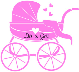 Baby girl pink clipart. Kid clip art images