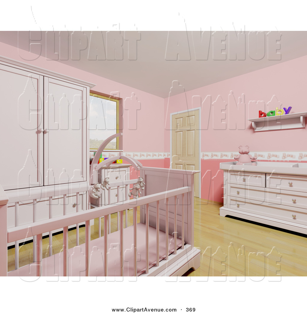 Baby girl room clipart image royalty free stock Girl Baby Crib Clipart - Clipart Kid image royalty free stock