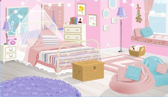 Baby girl room clipart image black and white library Clipart girl room - ClipartFox image black and white library
