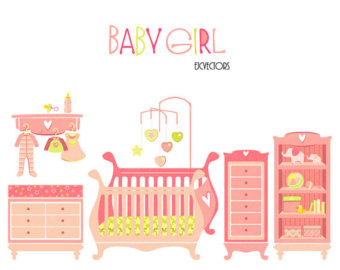 Baby girl room clipart clipart black and white stock Baby girl clothes – Etsy clipart black and white stock