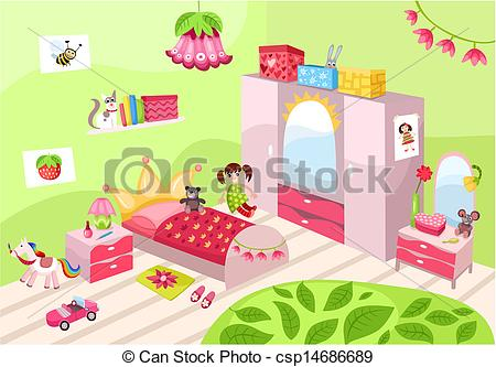 Baby girl room clipart graphic stock Clipart girl room - ClipartFox graphic stock
