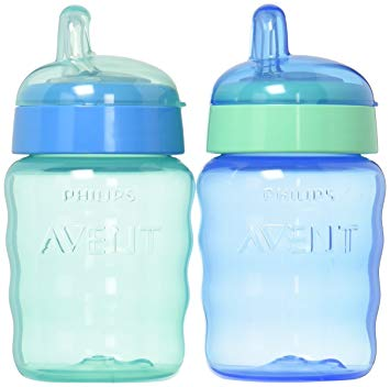 Baby girl sippy cup clipart graphic freeuse library Philips Avent My Easy Sippy Cup, 9 Ounce, Blue/Green, Stage 2 (Colors May  Vary) graphic freeuse library
