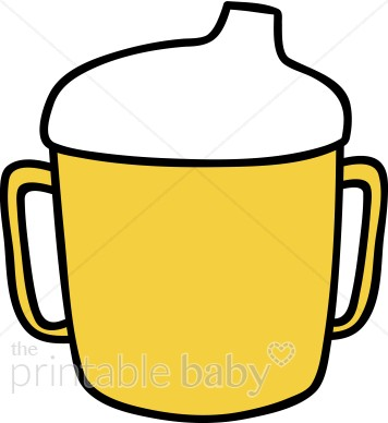 Sippy cup images clipart png freeuse Yellow Sippy Cup Clipart | Baby Feeding Clipart png freeuse