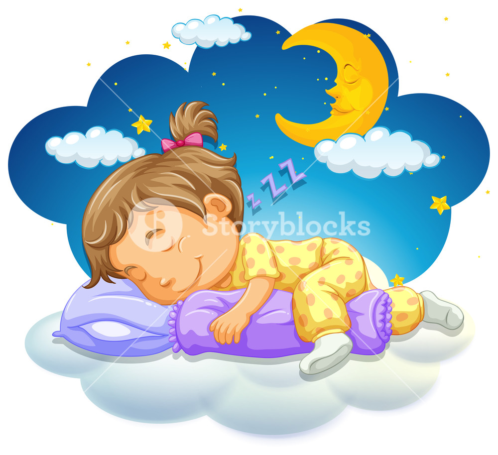 Baby girl sleeping clipart free clipart royalty free stock Baby girl sleeping at night Royalty-Free Stock Image - Storyblocks ... clipart royalty free stock