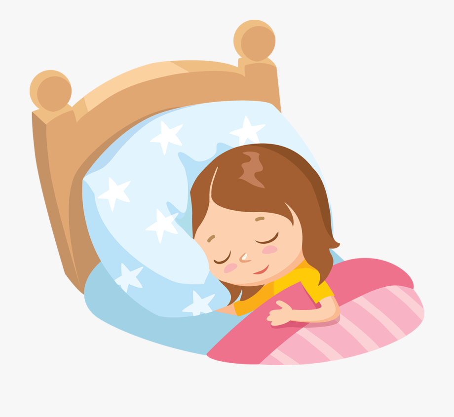 Clipart child in bed with moonlight svg free stock Bookworm Clip Art Sleeping Child - Baby Girl Sleep Cartoon #256368 ... svg free stock
