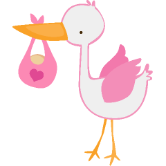 Baby girl stork clipart svg library library Clipart stork and baby girl - ClipartFest svg library library