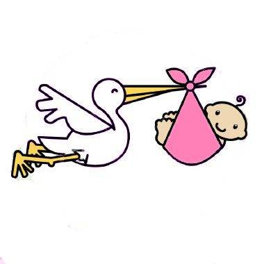 And clipartfest with a. Baby girl stork clipart