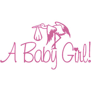 Baby girl stork clipart svg transparent stock Pink baby girl clipart - ClipartFox svg transparent stock