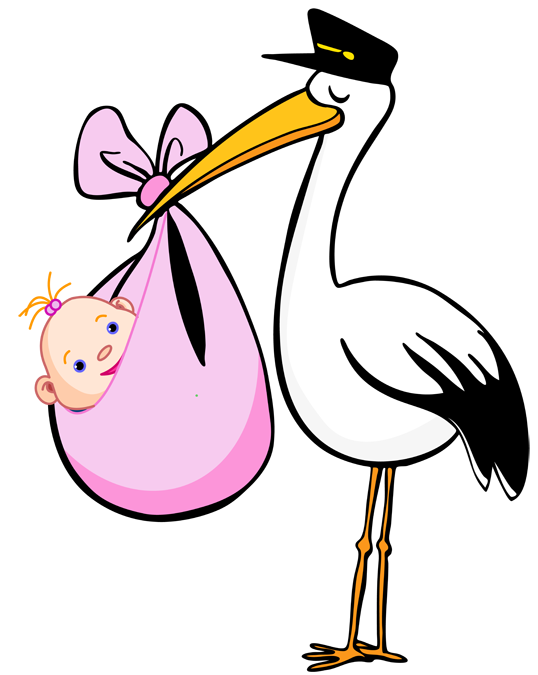 Baby girl stork clipart clip freeuse stock Clipart stork and baby girl - ClipartFest clip freeuse stock