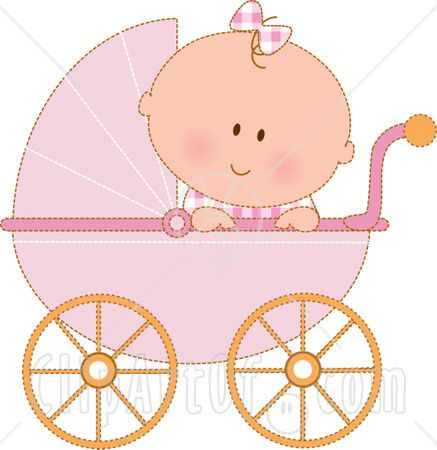 Baby girl stroler clipart graphic transparent library 17 Best images about bebês on Pinterest | Baby girls, Clip art and ... graphic transparent library