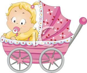 Baby girl stroler clipart jpg freeuse Art Image: A Baby Girl In Her Stroller jpg freeuse