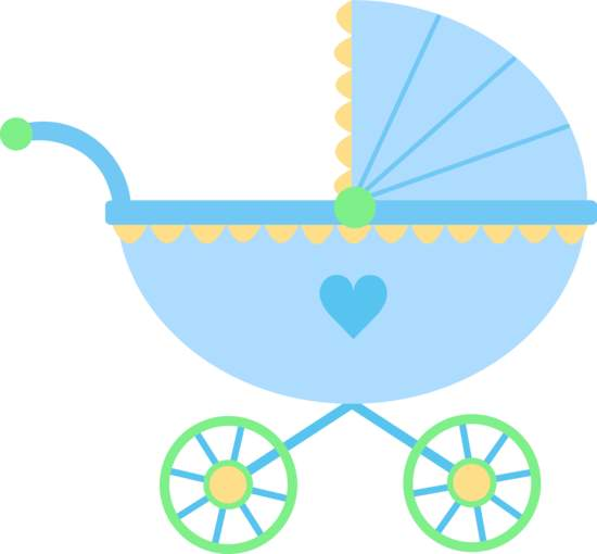 Baby girl stroler clipart clip art black and white library Baby Stroller Clip Art & Baby Stroller Clip Art Clip Art Images ... clip art black and white library