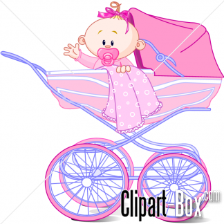 Baby girl stroler clipart transparent download CLIPART BABY GIRL IN PRAM | Royalty free vector design transparent download