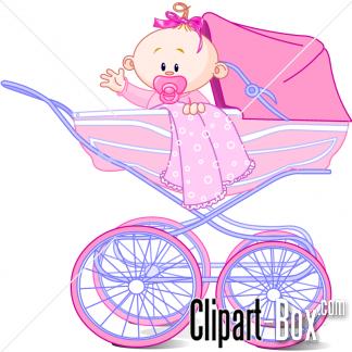 Baby girl stroler clipart transparent download CLIPART BABY GIRL IN PRAM | Royalty free vector design transparent download
