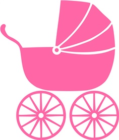 Baby girl stroler clipart graphic royalty free stock Baby stroller clipart - ClipartFest graphic royalty free stock