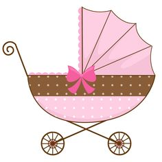 Baby girl stroler clipart png library baby clipart girl | Cute Pink Baby Carriage - Free Clip Art ... png library