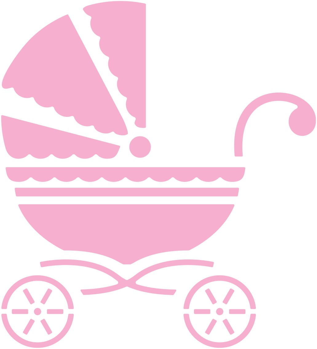 Baby girl stroler clipart svg library Pink baby stroller clipart - ClipartFest svg library