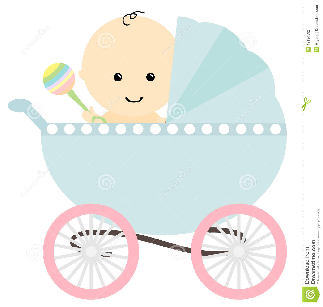 Baby girl stroler clipart banner library download Baby stroller clipart - ClipartFest banner library download