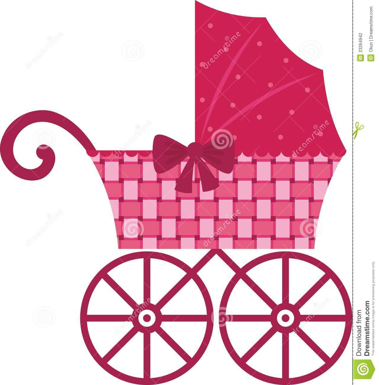 Baby girl stroler clipart vector freeuse library Baby stroller clipart - ClipartFest vector freeuse library