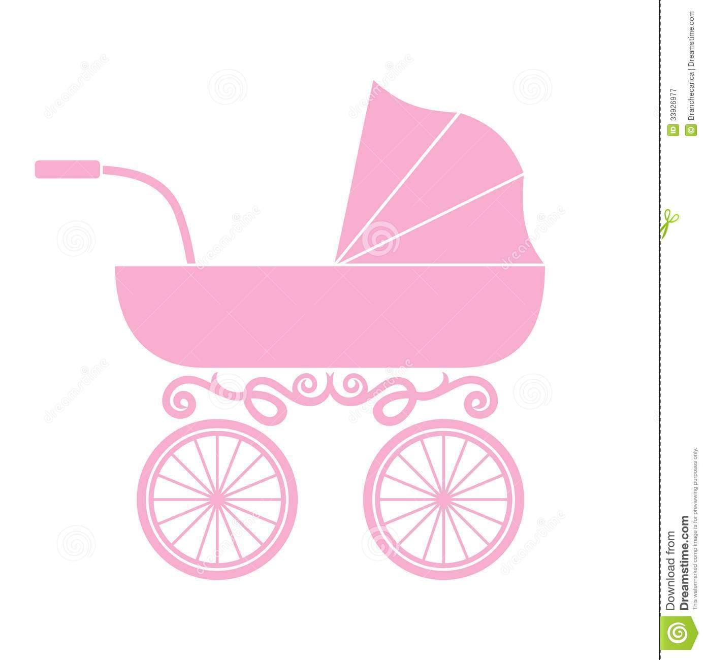Baby girl stroler clipart clip art transparent download Free baby stroller clipart - ClipartFest clip art transparent download