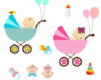 Baby girl stroler clipart clipart stock Baby Stroller Clip Art & Baby Stroller Clip Art Clip Art Images ... clipart stock