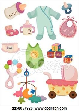 Baby girl supplies clipart vector freeuse stock Stuff Clipart - Clipart Kid vector freeuse stock