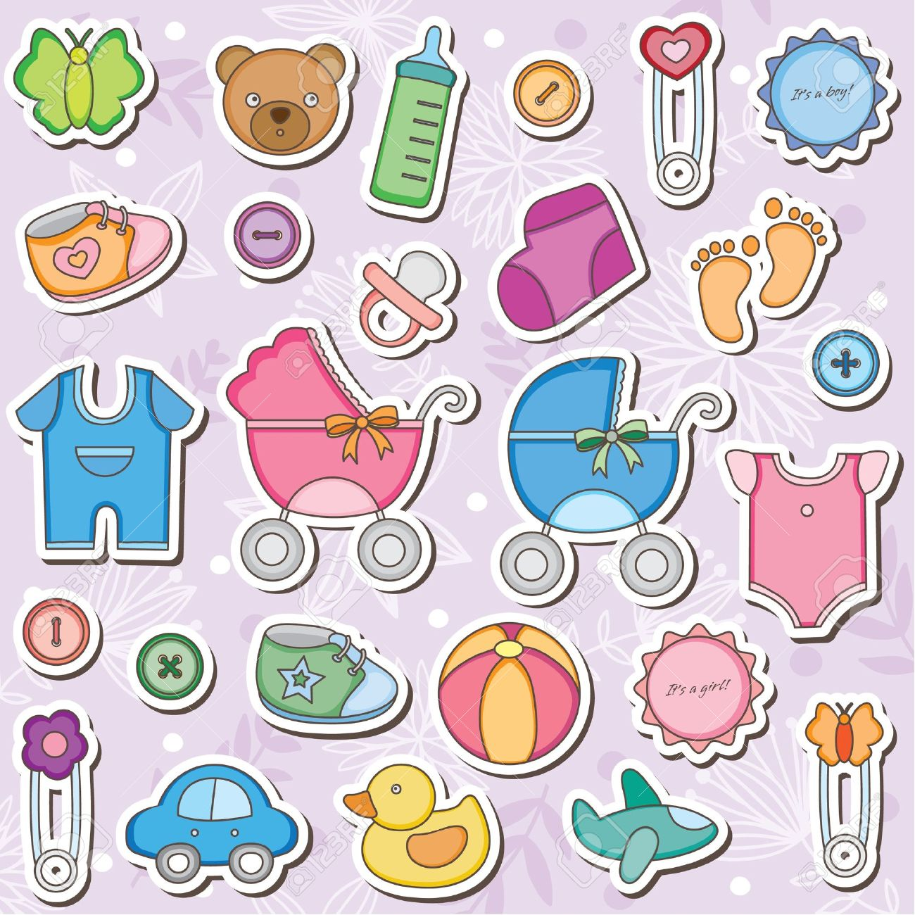 Baby girl supplies clipart clip art royalty free Baby supplies clipart - ClipartFest clip art royalty free