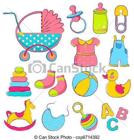 Baby girl supplies clipart vector black and white Baby Items Clipart & Baby Items Clip Art Images - ClipartALL.com vector black and white