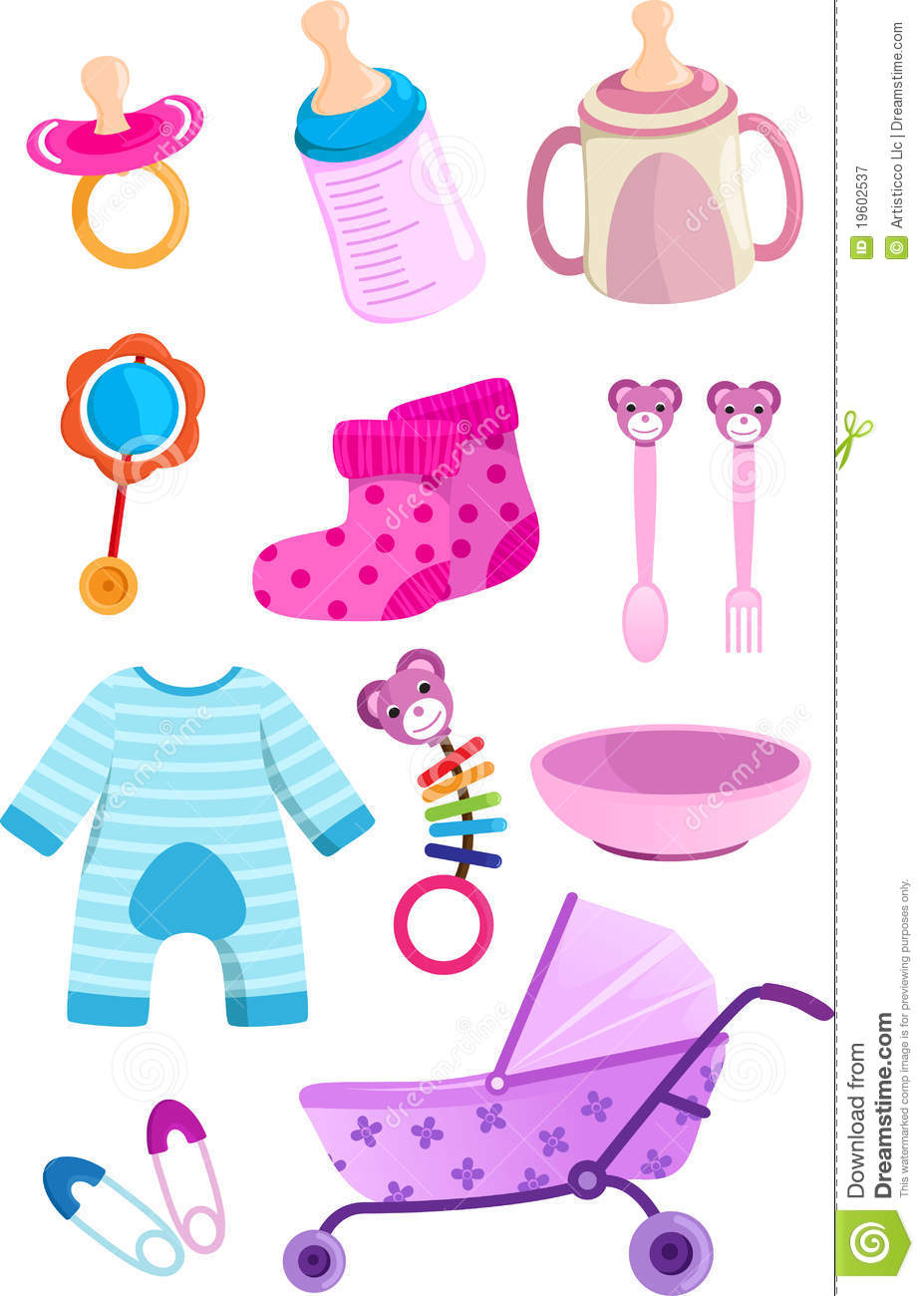 Baby girl supplies clipart clipart stock Baby items clipart free - ClipartFest clipart stock