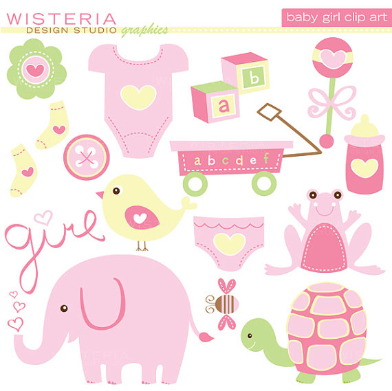 Baby girl supplies clipart banner stock 1000+ images about baby on Pinterest | Clip art, Shower ... banner stock
