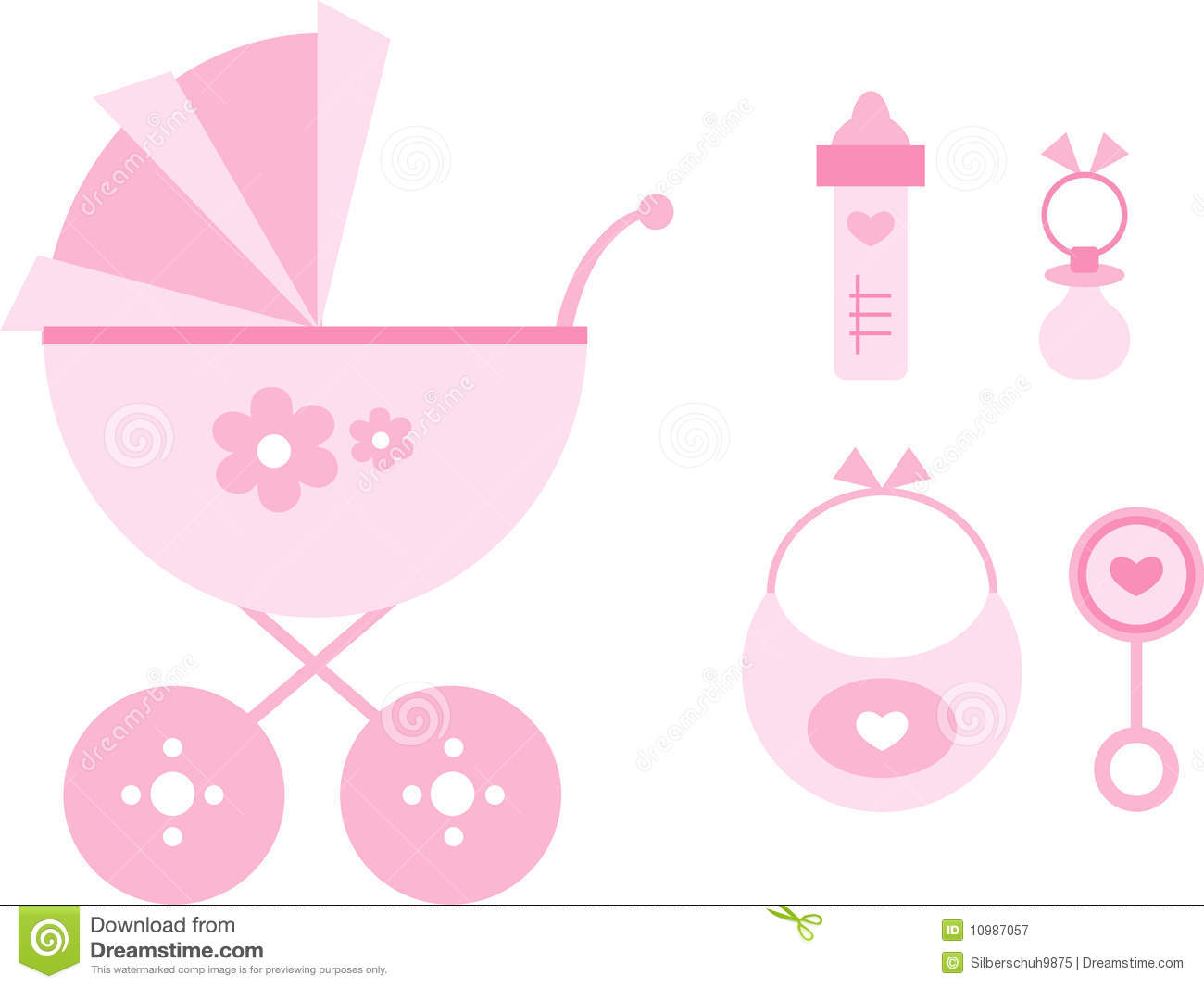 Baby girl supplies clipart banner Baby Girl Items Clipart - Clipart Kid banner