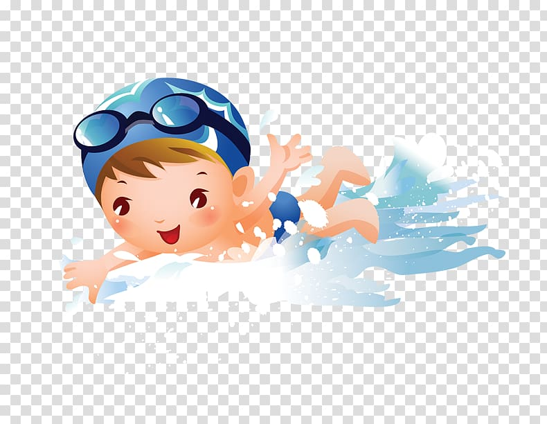 Baby girl swimming clipart clip black and white Swimming Child Girl , swimming child, bow swimming transparent ... clip black and white