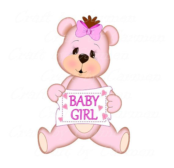 Baby girl teddy bear clipart clip royalty free Pink teddy bear, pink bear, cute bear, scrapbook, digital art, baby ... clip royalty free