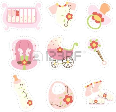 Baby girl things clipart jpg freeuse stock 866 Baby Things Stock Illustrations, Cliparts And Royalty Free ... jpg freeuse stock