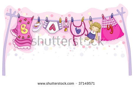 Baby girl things clipart picture royalty free download Baby Girl Things Vector Stock Vector 37149571 - Shutterstock picture royalty free download