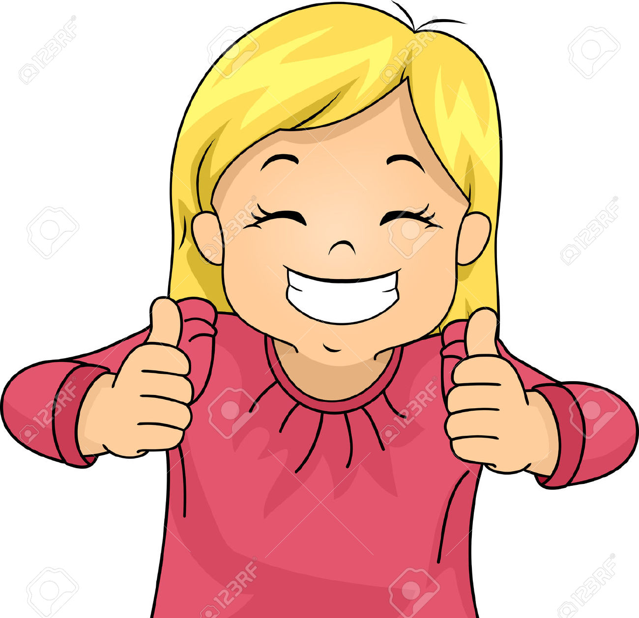 Baby girl thumbs up clipart. Giving clipartfest kid stok