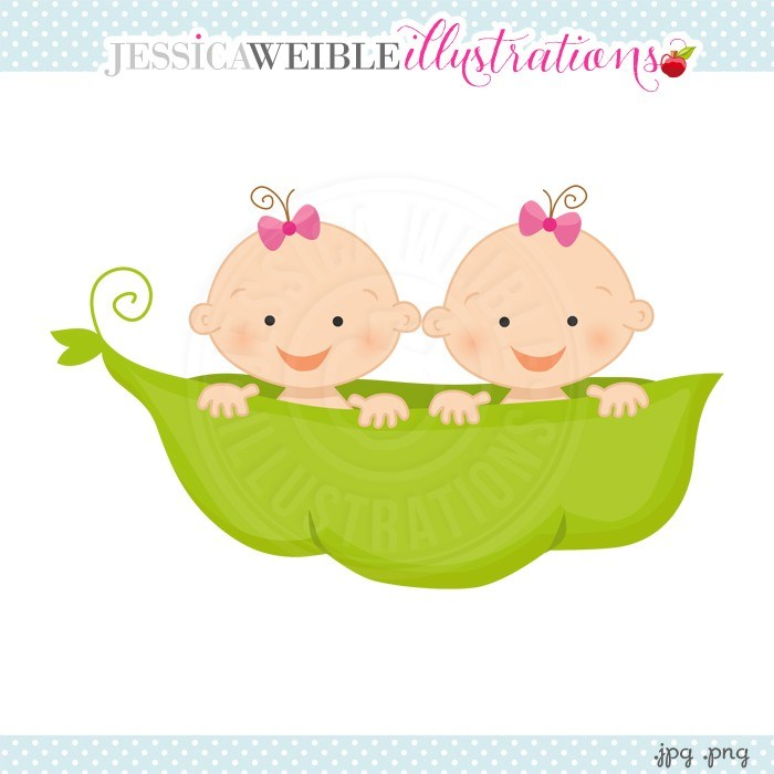Baby girl twin clipart image black and white library Twin baby girls clipart 2 » Clipart Portal image black and white library