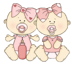 Baby girl twin clipart royalty free download Twin girls | Babies/Infants-Card Toppers | Baby clip art, Twin baby ... royalty free download