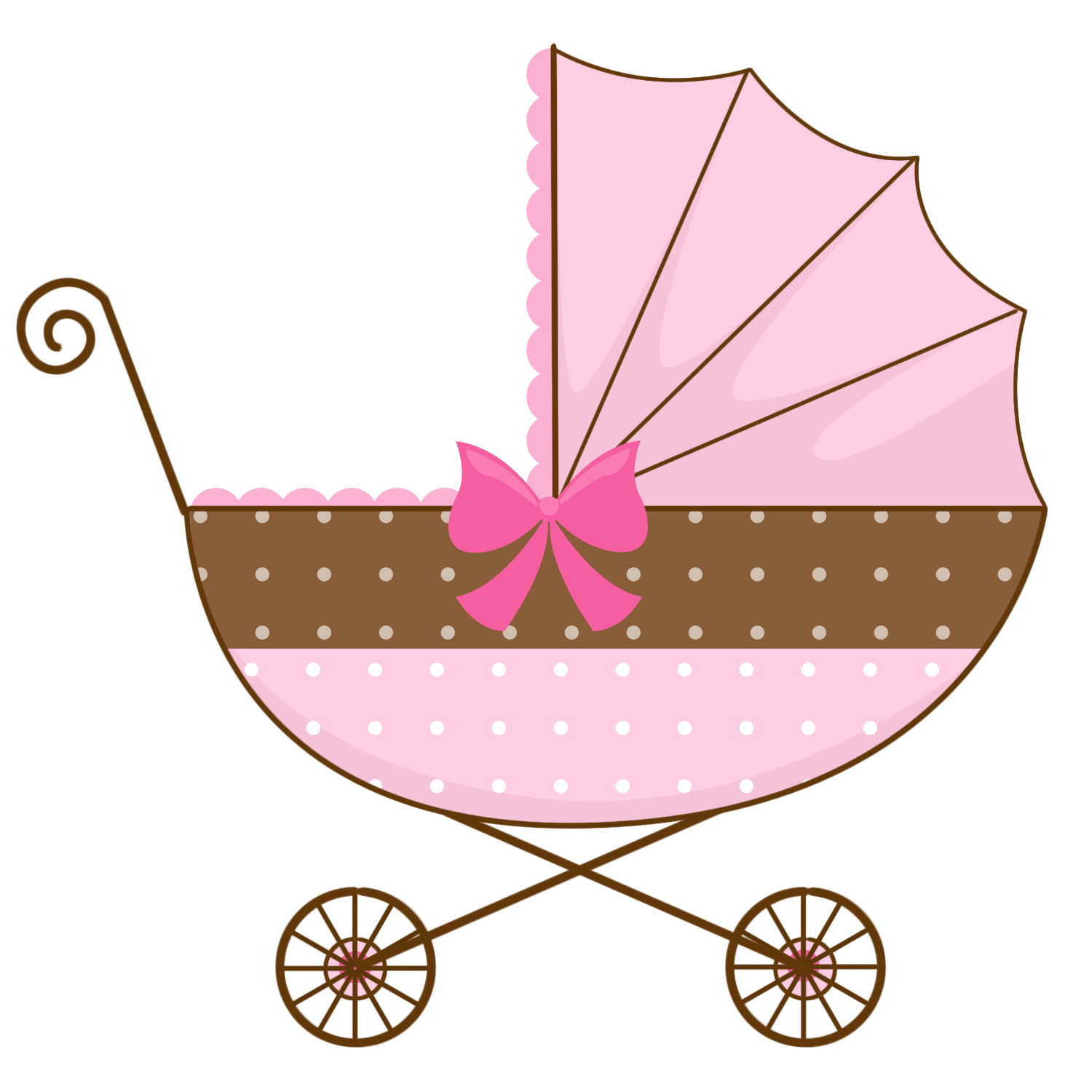 Baby girl vintage carriage clipart vector library library Vintage Baby Clipart | Free download best Vintage Baby Clipart on ... vector library library
