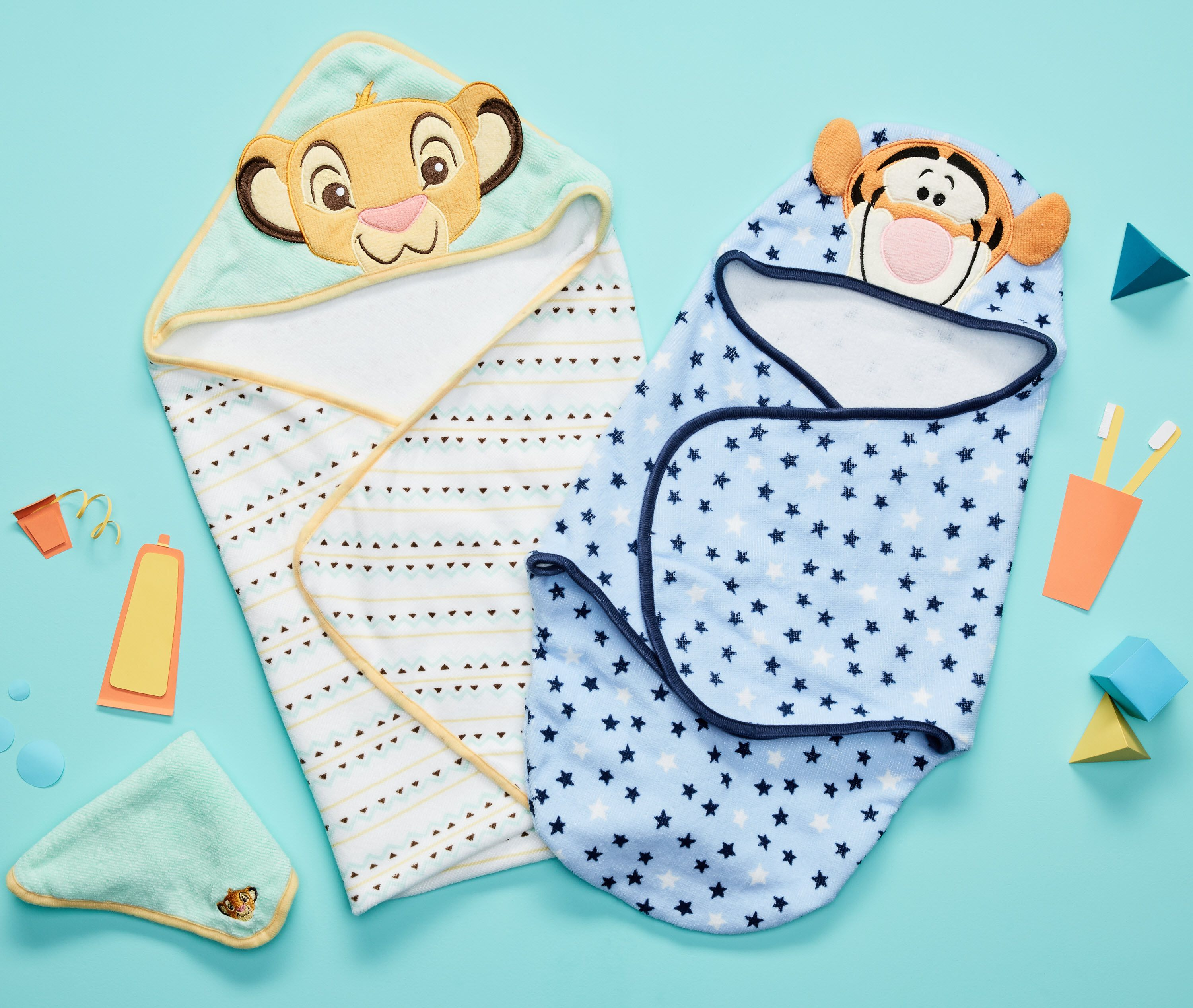 Baby girl washcloth clipart free download New Disney Baby embroidered hooded bath swaddles and hooded towel ... free download