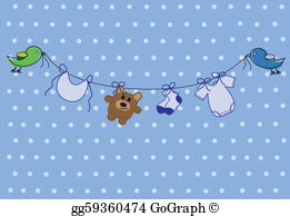 Baby girl washcloth clipart