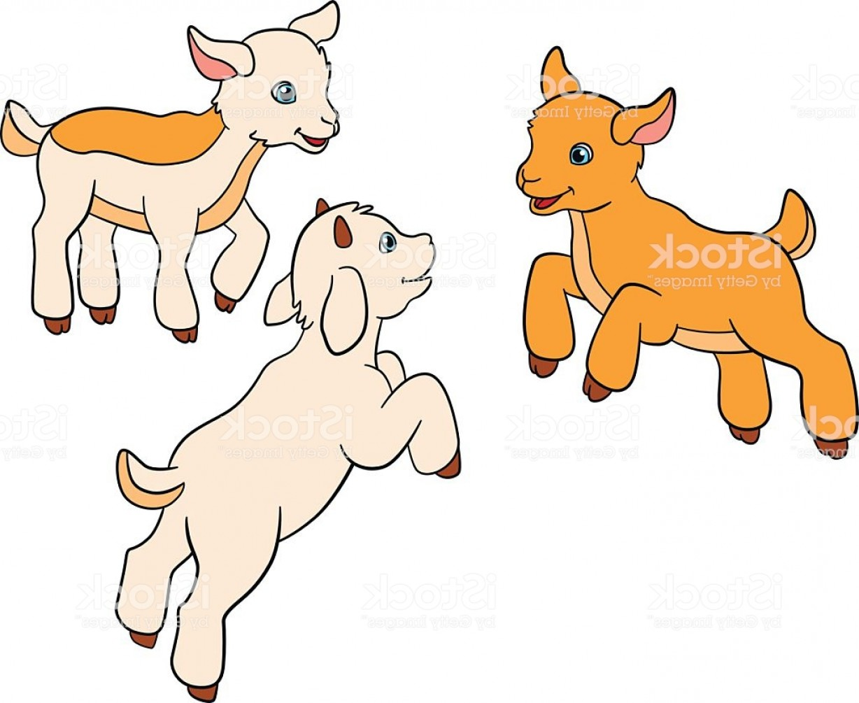 Baby goat face clipart image royalty free download Cartoon Farm Animals For Kids Three Baby Goats Gm   SOIDERGI image royalty free download