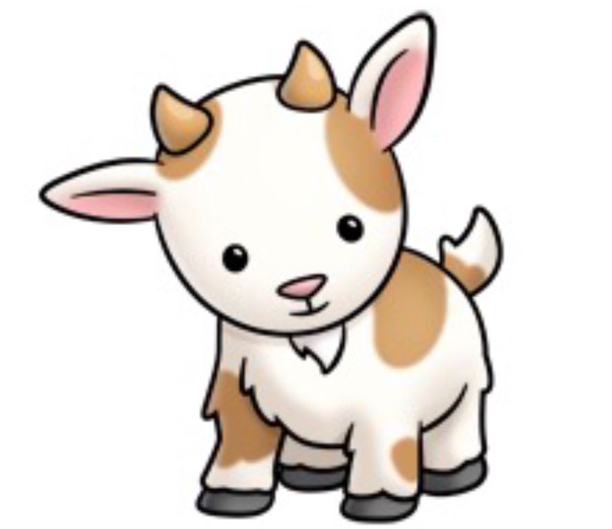 Baby goat face clipart vector transparent library Pin by ALYSSA WILSON on Alyssa Marie   Cute cartoon animals, Cute ... vector transparent library