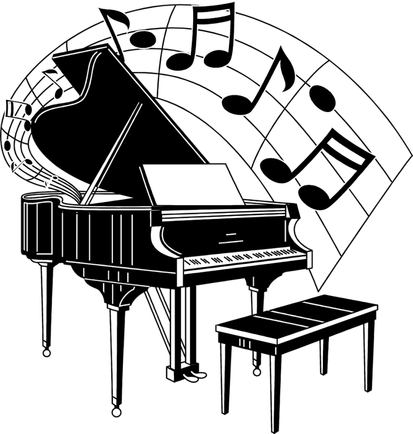 Jazz piano clipart free library 21+ Grand Piano Clip Art | ClipartLook free library