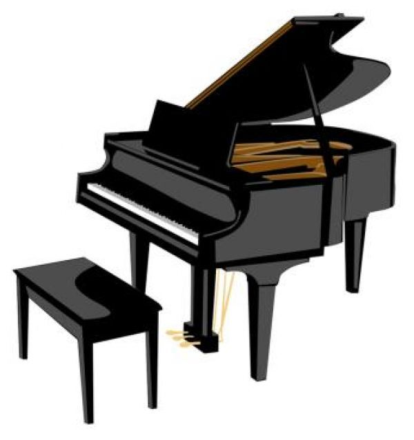 Baby grand piano clipart images black and white download Piano Clip Art - Quad Cities Piano Tuning and Repair | Piano in 2019 ... black and white download