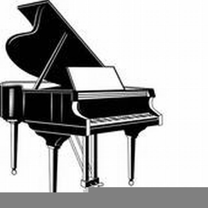 Baby grand piano clipart images banner black and white stock Grand Piano Clipart | Free Images at Clker.com - vector clip art ... banner black and white stock